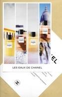 Carte Promo Perfume Card LES EAUX DE CHANEL * R/V * 15 X 21 Cm - Modernas (desde 1961)