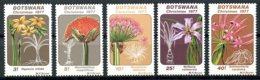 Botswana, 1977, Christmas, Lillies, Flowers, Flora, MNH, Michel 193-197 - Botswana (1966-...)