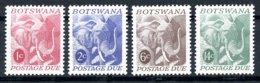Botswana, 1971, Elephant, Animals, Fauna, Postage Due, MNH, Michel 4-7 - Botswana (1966-...)