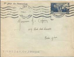 1943 - N° 583 Oblitéré Seul Sur Lettre - FIRST DAY - France