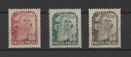 POLOGNE.  YT  N° 703/705  Neuf **  1953 - 1944-.... República