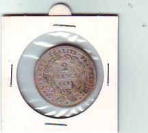 2 Francs CERES - III EME REPUBLIQUE  - 1872 K - ARGENT - - France