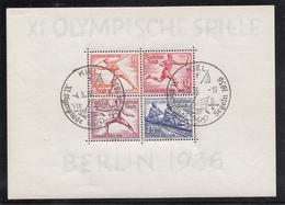 BLOCK FEUILLET N° 6 OLYPISCHIS SOMMERSPIELE OBLITERE KIEL LE 4-8-36 - Allemagne