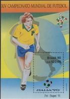 Brazil, 1990, Soccer World Cup Italy, Football, MNH, Michel Block 84 - Brésil