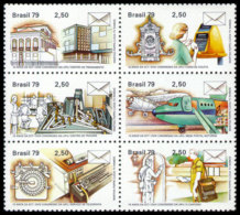 Brazil, 1979, UPU Congress, United Nations, MNH Block, Michel 1696-1701 - Brésil