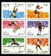 Brazil, 1984, Olympic Summer Games Los Angeles, Sports, MNH Block, Michel 2024-2029 - Brésil