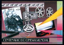 Brazil, 1995, Centenary Of Film, Movie, Cinema, MNH, Michel Block 97 - Brésil