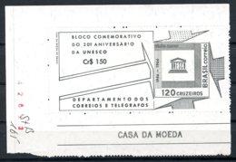 Brazil, 1966, UNESCO, United Nations, MNH, Michel Block 17 - Brésil
