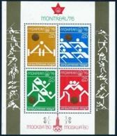 Bulgaria, 1976, Olympic Summer Games Montreal, Weightlifting, Rowing, Running, Wrestling, MNH, Michel Block 66 - Bulgarien