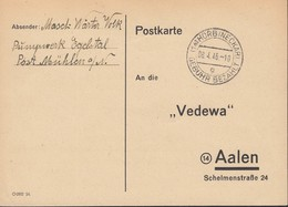 FrzZone  Gebühr Bezahlt., Barfrankatur MiNr. C 1e, Horb 8.4.1946 - Zona Francese