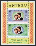 Antigua 1973 Elizabeth II Mini Sheet Celebrating Royal Wedding. - Antigua & Barbuda (...-1981)