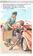 Illustrateur  LOUIS  CARRIERE Pin Up 9x14 MA VOITURE  CONSOMME  BEAUCOUP  TROP  D ESSENCE  ? N°773  CPM  TBE  PH141 - Carrière, Louis