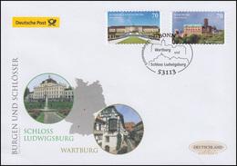 3311-3312 Ludwigsburg Und Wartburg, Selbstkl., Schmuck-FDC Deutschland Exklusiv - BRD