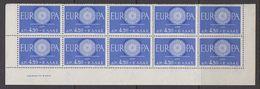 Europa Cept 1960 Greece 1v Bl Of 10 (part Of Sheetlet) ** Mnh (42883) - 1960