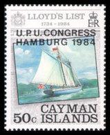 Cayman Islands, 1984, UPU World Postal Congress Hamburg, Ship, Boat, United Nations, MNH, Michel 531 - Kaimaninseln