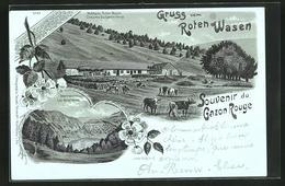 Lithographie Clair De Lune Saint-Maurice-sur-Moselle, Gruss Vom Roten Wasen, Melkerei Roter Wasen, Sternsee - Non Classés