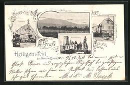 CPA Heiligenstein, Hôtel De Ville, Truttenhausen, Bärenbrunnen - France