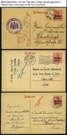 LANDESPOST IN BELGIEN P 2,11 BRIEF, 1914-17, 35 Gebrauchte Karten, Feinst/Pracht - Besetzungen 1914-18