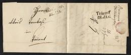 DA BRIXEN A TRENTO - 28.1.1847. - Italia