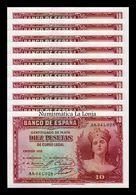 España Spain Lot Bundle 10 Banknotes 10 Pesetas Republica 1935 Pick 86 SC UNC - [ 2] 1931-1936 : República