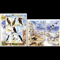 LIBERIA 1999 - Scott# 1464-5 Sheets-Seabirds MNH - Liberia