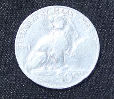 LEOPOLD II 50 CENTIEM  1901  2 SCANS  VL - 1865-1909: Leopold II