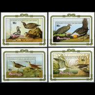 PENRHYN 1985 - Scott# 315-8 S/S Audubon Birds MNH - Penrhyn