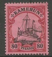 German Cameroun - 1900 Kaiser's Yacht 80pf Mint Hinged *    Sc 15 - Colony: Cameroun