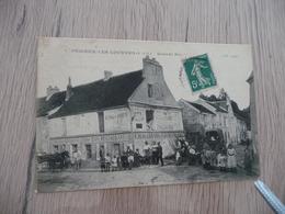 CPA 95 Val D'Oise Puiseux Les Louvres Grande Rue Café Mercerie Animée - Frankrijk