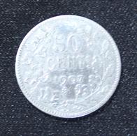 LEOPOLD II 50 CENTIEM  1907  2 SCANS  FR - 1865-1909: Leopold II