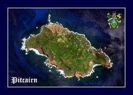 Pitcairn Island Satellite View New Postcard Pitcairninseln AK - Pitcairn