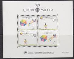 Europa Cept 1989 Madeira M/s ** Mnh (42891) - 1989