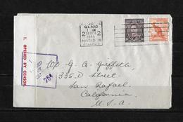 1945 Cover Censored Brisbane, Queensland Cover To USA - 1937-52 George VI