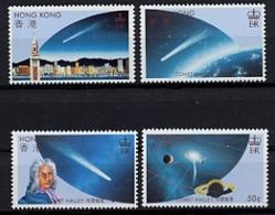 Hong Kong, 1986, Halley's Comet, Space, MNH, Michel 478-481 - Hong Kong (...-1997)
