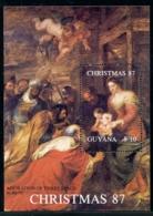 Guyana, 1988, Christmas, Rubens Painting, MNH, Michel Block 22 - Guyane (1966-...)
