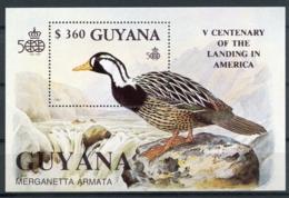 Guyana, 1991, Birds, Discovery Of America, MNH, Michel Block 127 - Guyana (1966-...)