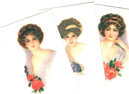 3 Cartes Jeune Femme -vrouw  -lady- - Femmes