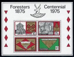 Guyana, 1975, Foresters Centennial, Cave Paintings, MNH Sheet, Michel Block 6 - Guyana (1966-...)