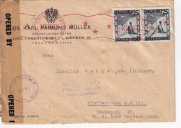 AUTRICHE 1946 LETTRE CENSUREE DE LINZ - 1945-.... 2a Repubblica