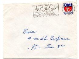 DORDOGNE - Dépt N° 24 = MONTIGNAC 1968 = FLAMME Codée = SECAP Illustrée ' GROTTE Sans S De LASCAUX ' - Prehistory