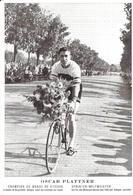 CYCLISME - PLATTNER Oscar - CHAMPION DU MONDE ALLEGRO CARTE ORIGINALE UNIQUE SUR DELCAMPE - Photo Véritable - NON ECRITE - Cycling