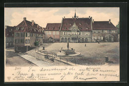 CPA Barr, Hôtel De Villeplatz Avec Fontaine - Barr