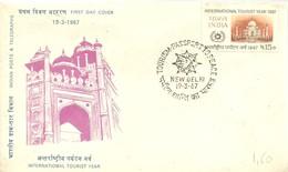 FDC INDIA 1967 - Vacaciones & Turismo