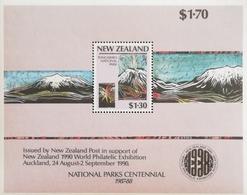 New Zealand  1987 World Philatelic Exhibition 1990 - Unused Stamps