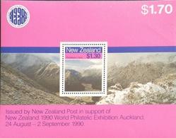 New Zealand  1988  World  Philatelic Exhibition 1990 S/S - Unused Stamps
