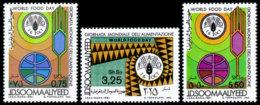 Somalia, 1981, World Food Day, FAO, United Nations, MNH, Michel 304-306 - Somalie (1960-...)