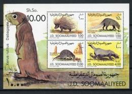 Somalia, 1984, Mammals, Porcupine, Mongoose, Badger, MNH, Michel Block 16 - Somalia (1960-...)