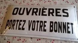 Plaque émaillée D'usine Bombée  Julien Lemaire  Verviers - Brands