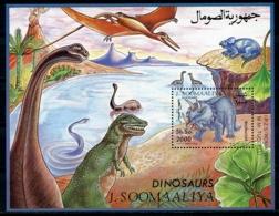 Somalia, 1993, Dinosaurs, Prehistoric Animals, MNH, Michel Block 29 - Somalie (1960-...)