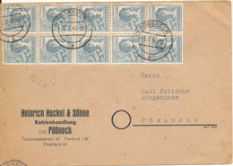 Germany Allied Occupation Zone Cover Pössneck 3-7-1948 - American,British And Russian Zone